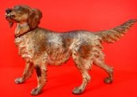 Rare antique large Vienna bronze English Setter - US $ 2,750.00