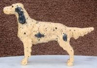 Vintage Carved Wooden English Setter Show Dog - US $ 59.99