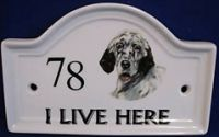 Ceramic house number sign - GBP 6.99